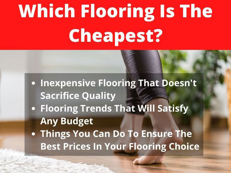 which flooring is the cheapest